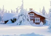 Casa sommersa della neve
